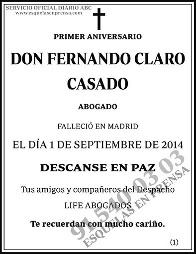 Fernando Claro Casado